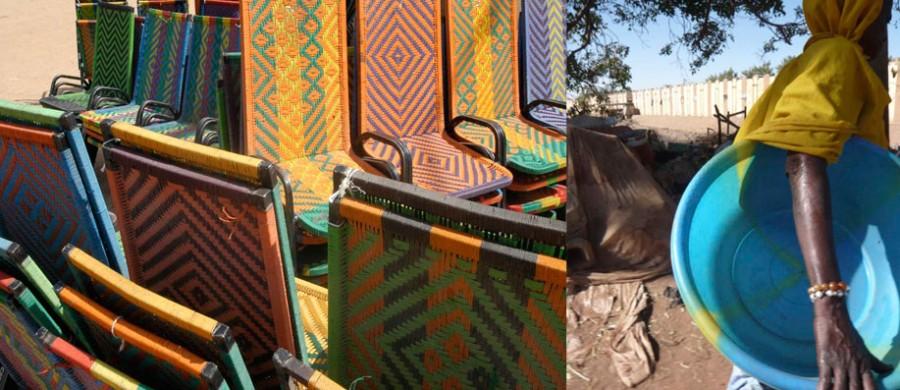 Chaises colorées en Afrique